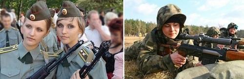 عکس زنان نظامی لهستان