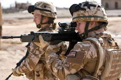 عکس زنان نظامی انگلیس - بریتانیا