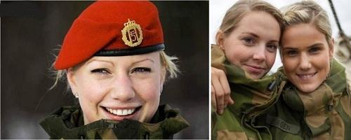 عکس زنان نظامی نروژ