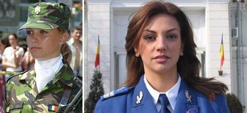 عکس زنان نظامی رومانی