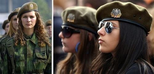 عکس زنان نظامی صربستان