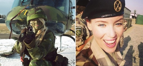 عکس زنان نظامی سوئد